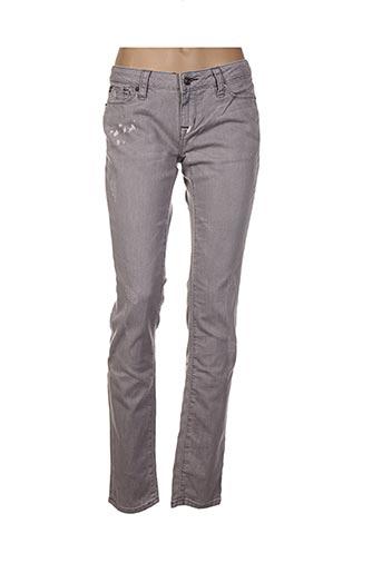 Pantalon casual gris ED HARDY pour femme