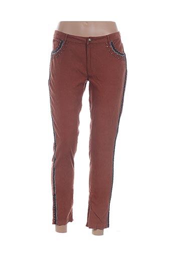 Pantalon 7/8 marron PAUL & JOE pour femme