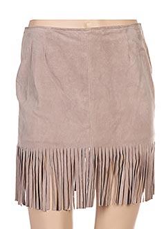 Mini-jupe beige REVEIL pour femme