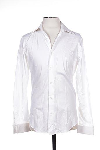 Chemise manches longues blanc COTTON CLUB pour homme