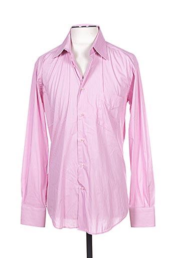 Chemise manches longues rose COTTON CLUB pour homme