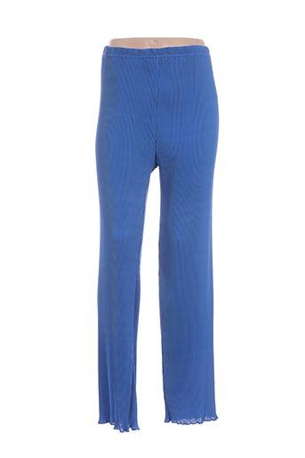 Pantalon casual bleu EDMOND BOUBLIL pour femme