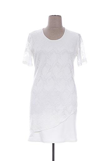 Robe mi-longue blanc DEOMINO pour femme
