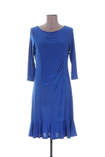 Robe mi-longue bleu DASS&CO PARIS pour femme
