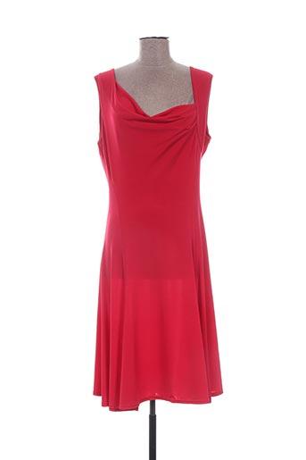 Robe mi-longue rouge DASS&CO PARIS pour femme