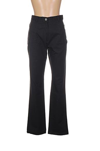 Pantalon casual noir BLEU DE SYM pour femme