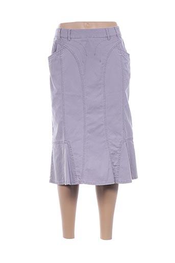 Jupe mi-longue violet BLEU DE SYM pour femme