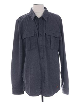 Chemise manches longues gris QUIKSILVER pour homme
