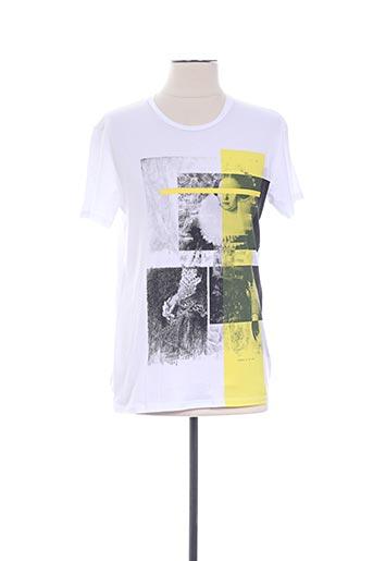 T-shirt manches courtes blanc IKKS pour homme