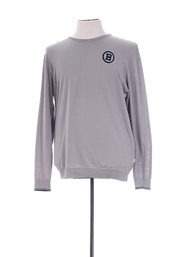 Pull col rond gris SERGE BLANCO pour homme