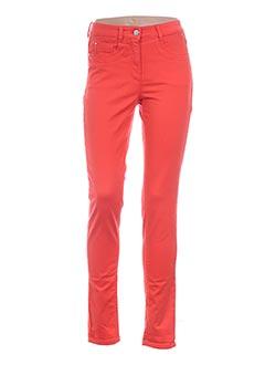 Jeans skinny orange BASLER pour femme