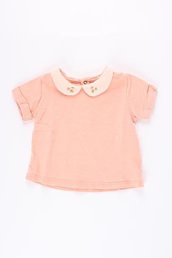 T-shirt manches courtes orange BLUNE pour fille
