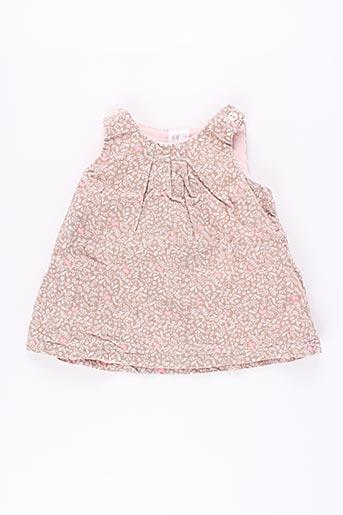 Robe mi-longue rose H&M pour fille