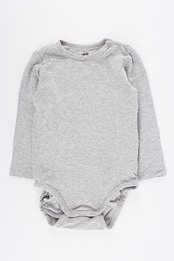Body gris H&M pour fille