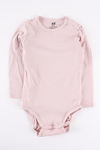 Body rose H&M pour fille