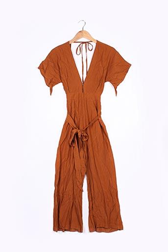 Combi-pantalon marron FAITHFULL pour femme