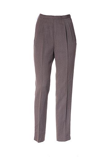 Pantalon casual marron ET VOUS pour femme