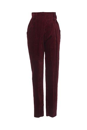 Pantalon casual rouge INITIAL pour femme