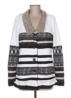 Veste casual blanc VIRGINIE & MOI pour femme