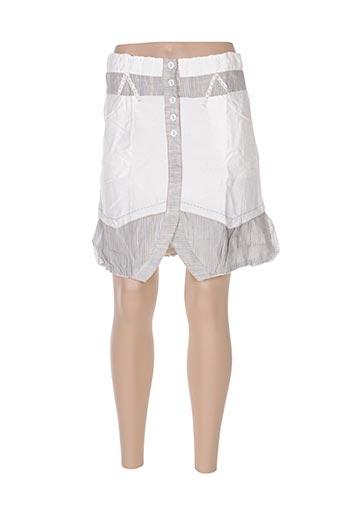 Jupe courte gris VIRGINIE & MOI pour femme