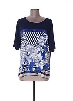 T-shirt manches courtes bleu BLUOLTRE pour femme