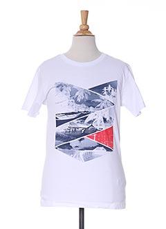 T-shirt manches courtes blanc NUKUTAVAKE pour garçon