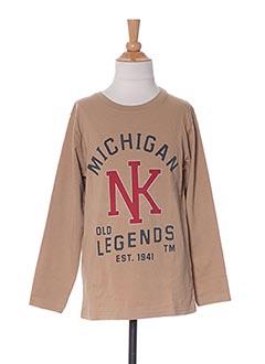 T-shirt manches longues marron NUKUTAVAKE pour garçon