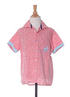 Chemise manches longues rouge JN-JOY pour garçon