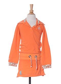 Robe mi-longue orange JN-JOY pour fille