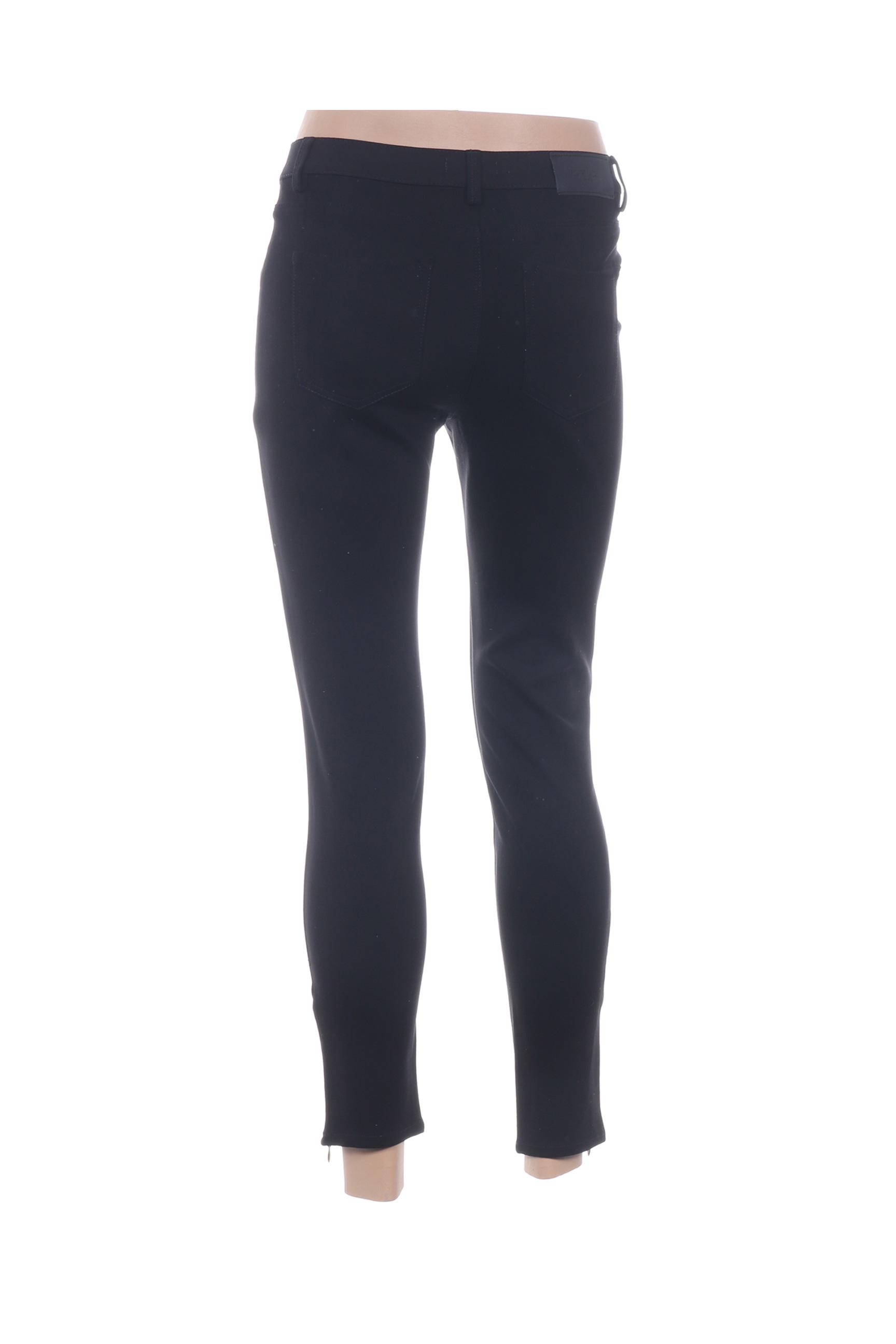 Votre Nom Pantalon7 8 Femme De Couleur Noir En Soldes Pas Cher 1326569-noir00
