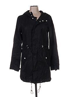 Manteau long noir FRIDAY pour femme