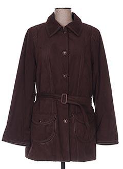 Manteau court marron HAVREY pour femme