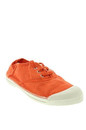 Baskets orange BENSIMON pour fille