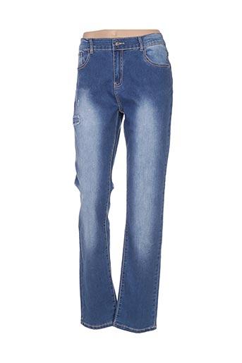Jeans coupe droite bleu ADB DENIM pour femme