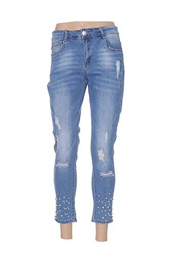 Jeans coupe slim bleu ADB DENIM pour femme