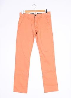 Pantalon casual orange SELECTED pour homme