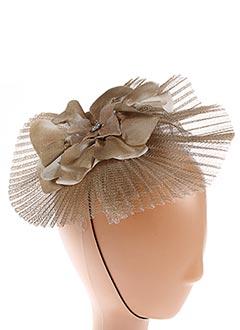 Chapeau beige JULIE PERLOUZE pour femme