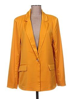 Veste chic / Blazer jaune ICHI pour femme