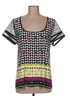 T-shirt manches courtes noir GARELLA pour femme