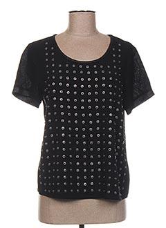 T-shirt manches courtes noir NÜ pour femme