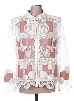 Veste casual blanc AKHESA pour femme