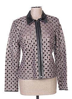 Veste casual gris AKHESA pour femme
