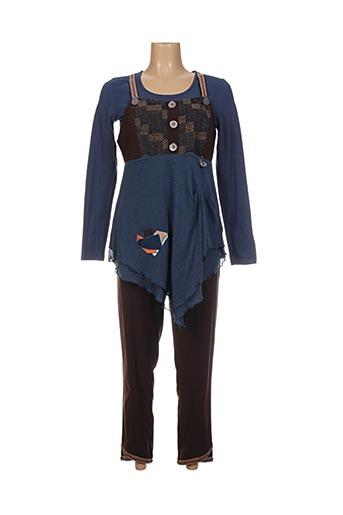 Top/pantalon bleu ENJOY pour femme