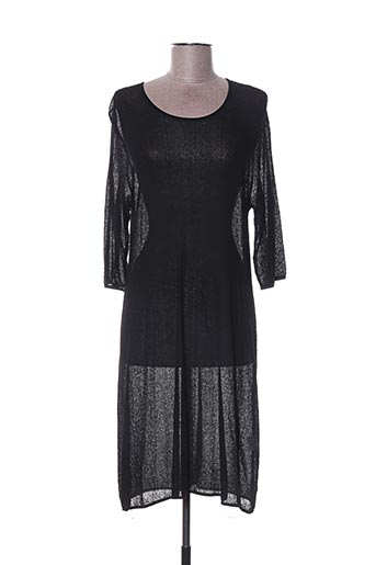Robe mi-longue noir CRISTINA pour femme