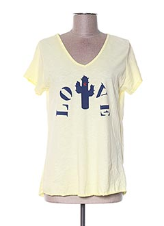 T-shirt manches courtes jaune EMPORIUM pour femme