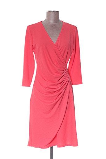 Robe mi-longue orange BY MEG pour femme