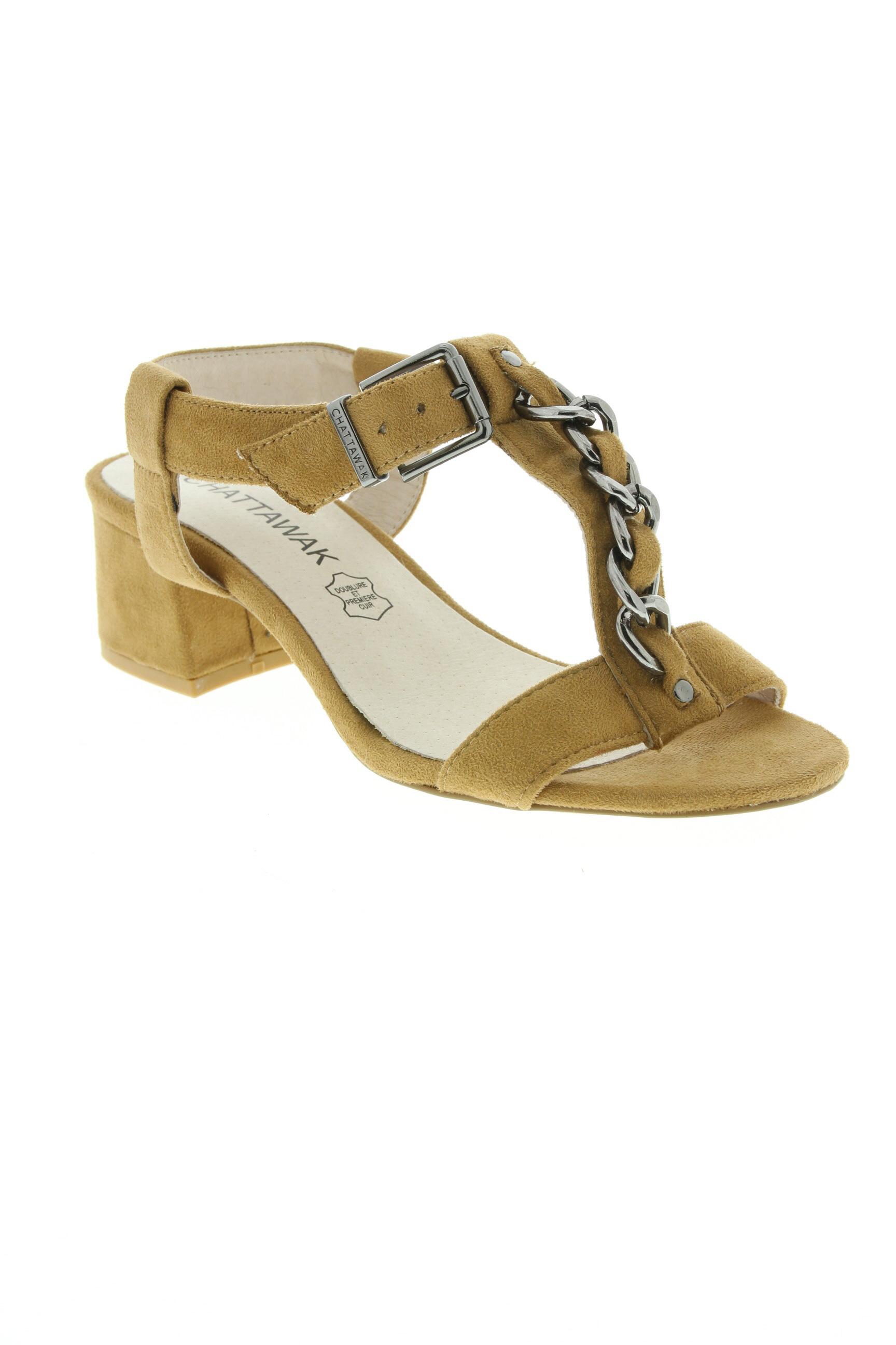 CHATTAWAK Chaussures SandalesNu pieds de couleur beige en soldes pas cher 1332476 beige0 Modz