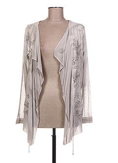 Veste casual gris CAPUCCINO pour femme