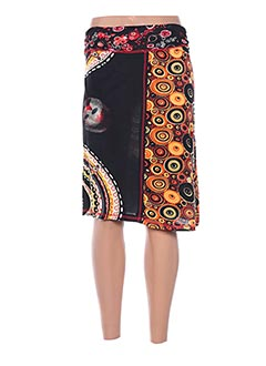 Jupe mi-longue noir ALLER SIMPLEMENT pour femme