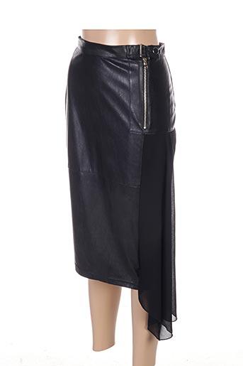 Jupe mi-longue noir ECLIPSE pour femme